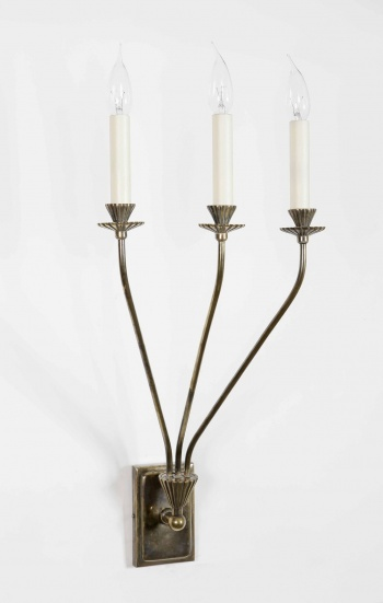 Tripple Orchid Wall Sconce